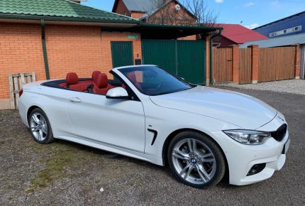 BMW 4-series Cabrio белого цвета